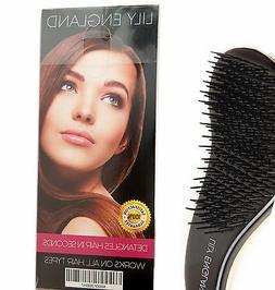 #1 Best Detangling Hair Brush Lily England Gold for Wet, Dry