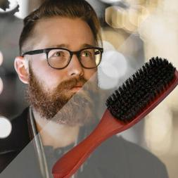 100% Pure Boar Bristle Hair Brush Beard Mustache Comb Long W