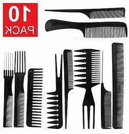 10Pcs Black Pro Salon Hair Styling Hairdressing Plastic Barb
