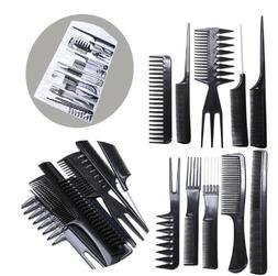 10pcs black pro salon hair styling hairdressing