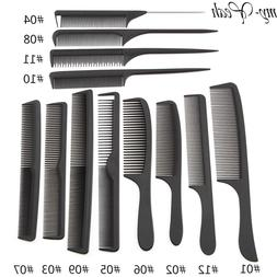 12 Style Anti-static Hairdressing Combs Tangled Straight <fo