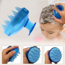 1Pcs Spa Hair Brush Silicone Shampoo Wide Tooth Comb Hair Wa