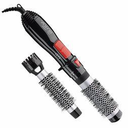 """Revlon 2-IN-1 1"""" & 1-1/2"""" HOT AIR BRUSH KIT HAIR STYLER 500W"""