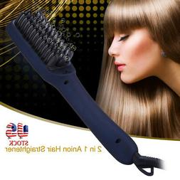 2 in 1 Ceramic Anion Electric Hair Smoothing Straightening B