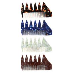 2 in 1 Men's Oily Hair Pick Comb Dye Hairdressing Styling Wi