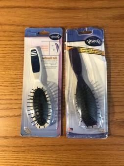 "2 Vintage Goody  Purse/travel Hair Brush. 7""Long."