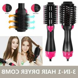 2In1 One Step Hair Dryer and Volumizer Brush Straightening C
