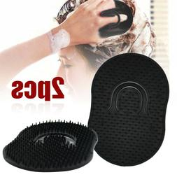 2pcs Men's Pocket Palm Comb Brush Hair Beard Mustache Scalp