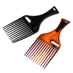 2pcs Smooth Men's Oily Hair Pick Comb Salon Afro Curly Hair