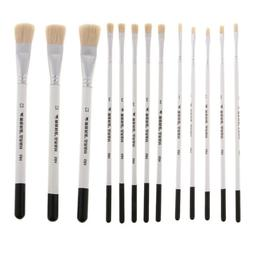 3/5Pcs Wood Handle Natural Hair Paint Brush for Watercolor A