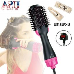 3 In1 Electric Pro Hair Dryer Brush Curler Rotating Hairdrye