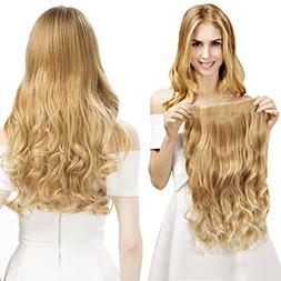"REECHO 20"" 1-Pack 3/4 Full Head Curly Wave Blonde Mixed Hair"