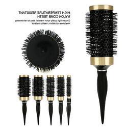 5 Sizes Hair Brush Ceramic Iron Round Comb Barber Dressing S