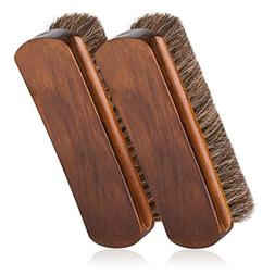 """6.7"""" Horsehair Shoe Shine Brushes with Horse Hair Bristles f"""