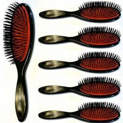 6 X Hair Extension Brush, Head Jog 101,Rubber Cushion, Nylon