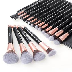 Anjou Makeup Brush Set, 16pcs Premium Cosmetic Brushes for F