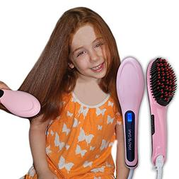 Professional Ceramic Hair Straightener Brush by NAD&DAN with