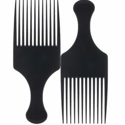 Afro Comb Curly Hair Brush Salon Hairdressing Flexible Long