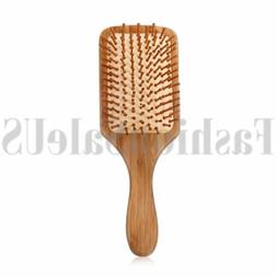 Anti-static Bamboo Paddle Cushion Hair Loss Massage Brush Ha