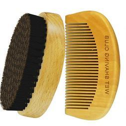 Beard Brush - Mustache Brush - Hair Brush - Boar Hair Bristl