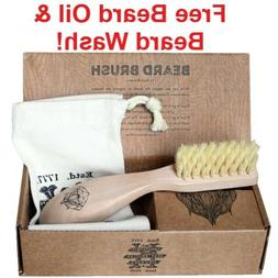 Kent Beard Brush! W/ FREE BEARD OIL & WASH! Quality Hand Mad