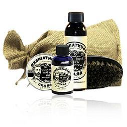 Beard Grooming Care Kit for Men by Mountaineer Brand   Natur