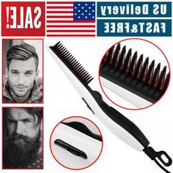 beard straightener comb quick heated brush styler