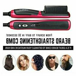 Beard Straighteners Comb Lesgos Electric Hair Brush Wet and