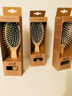 Tek big oval hair brush in Ash wood with regular pins - Hand