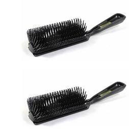 MARVY BLACK 11-ROW POLY PIN STYLING HAIRBRUSH TWO  BRUSHES 1