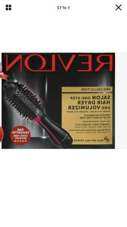 Black Revlon Pro Collection Hot Air One Step Hair Dryer Brus