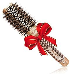 Blow-dry Round brush with Natural Boar Bristles for Salon-Li
