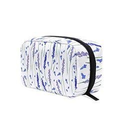 Blue Watercolor Lavender Petals Decorations Cosmetic Bag Sto