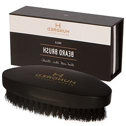Boar Bristle Beard Brush - Perfect For Balms and Oils - Natu