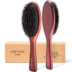 Boar bristle hair brush men, hair brushes for women men, bri