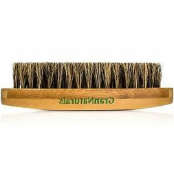 GranNaturals Boar Bristle Hair + Beard Brush for Men -Milita