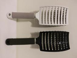 Boar Bristle Hair Brush set – Curved and Vented Detangling