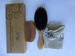Boar Bristle Hair Brush Set for Women and Men Designed for T