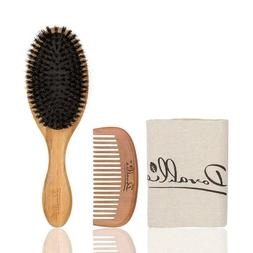 BOAR BRISTLE HAIR BRUSH SET FOR WOMEN AND MEN FOR THIN AND N