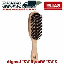Boar Bristle Hair Brush Women Men Hard Wave Wood Handle Scal