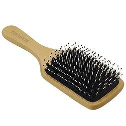 FIXBODY Boar Bristle Hair Brush Natural Wooden Handle Anti-S