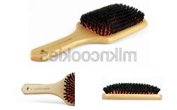 100% Natural Boar Bristle Hair Styling Brush, Wood Handle Po