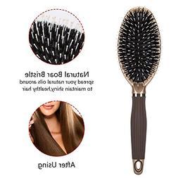 Gyryp Boar Bristle Paddle Hair Brush for Men & Women,Detangl
