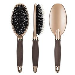 VAMIX Boar Bristle Paddle Hair Brush for Men & Women, Design
