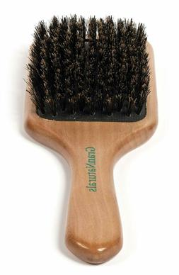 Boar Bristle Paddle Hair Brush And Durable Lasting Wooden Ha