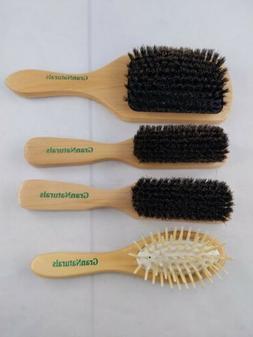 GranNaturals Boar Bristle Paddle,Hair Brush, Plastic, Natura