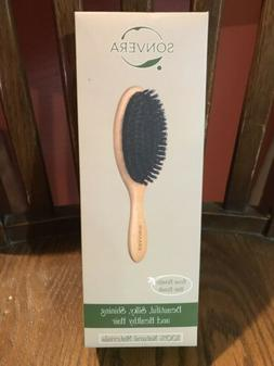 Sonvera Boar Bristle Unisex Hair Brush New in Box with bag a