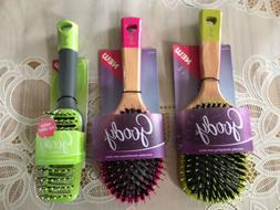 Goody Boar Bristles Round Hair Brush- Pink , Set of 2