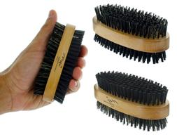 Men Boar Hair Bristle Beard Mustache Brush Soft Hard Palm Ro