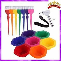BOWLS AND BRUSH KIT Hair Coloring Dye Mixing Rainbow Color S
